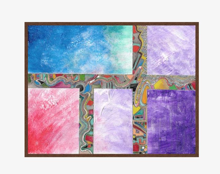 Fabric £616.00 41.62 X 32.36 digital acrylic walnut frame