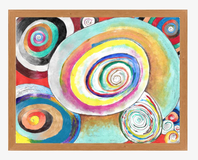 "Shells £717.00 40"" x 30.61"" (43.76 X 34.37 with cherry wide frame) digital acrylic"