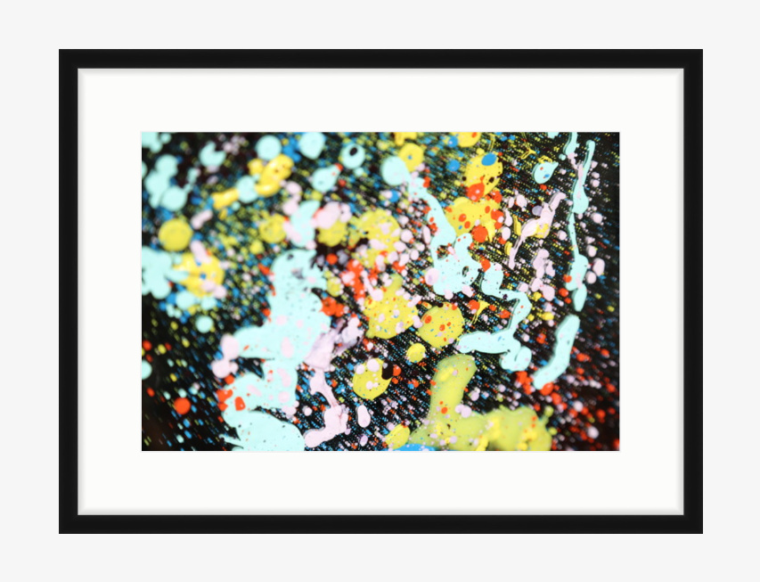 "Splatter £300 18"" x12"" (25.25 X 19.25 with slim black frame) digital acrylic photography"